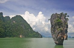 Ko Tapu Island, Thailand. Ko Tapau Island, Thailand also called James Bond Island as it was featured in a James Bond movie Stock Photo