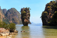 Ko Tapu or James Bond Island Royalty Free Stock Photo