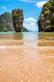 Ko Tapu at James Bond island, Thailand Royalty Free Stock Photos