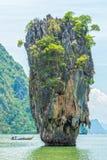 Ko Tapu or Khao Tapu is an island in Phang Nga Bay. Phang Nga Bay is in northeast of Phuket, Thailand Stock Photos