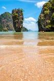 Ko Tapu przy James Bond wyspą, Tajlandia Zdjęcia Royalty Free