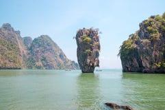 Ko Tapu skała na James Bond wyspie Obrazy Stock