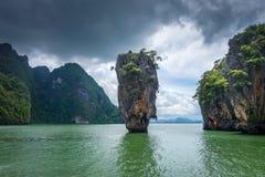 Ko tapu wyspa w Phang Nga zatoce, Tajlandia fotografia stock