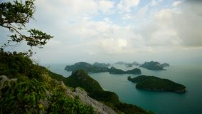 Ko-wua ta-Schoss in MU-ko angthong nationalem Marinepark stockfotos