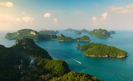 Ko-wua ta-Schoss in MU-ko angthong nationalem Marinepark stockfoto