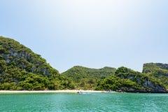 Ko Wua Talap海岛前面  免版税库存图片