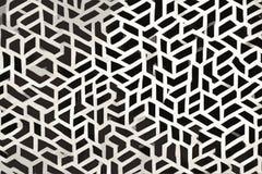 Koagulerad textur av svartvita sömlösa geometriska former vektor illustrationer