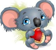 Koala και καρδιά Στοκ εικόνες με δικαίωμα ελεύθερης χρήσης