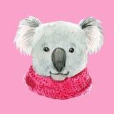 Koala σε ένα ρόδινο μαντίλι απεικόνιση αποθεμάτων