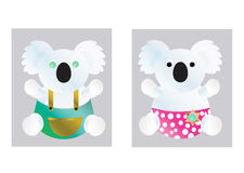 Koala δύο ελεύθερη απεικόνιση δικαιώματος