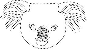 A koala. Rhinestones/ outline dots of a koala royalty free illustration