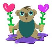 Koala Bear with Hearts Royalty Free Stock Photos