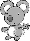 Koala Bear Vector Illustration royalty free illustration