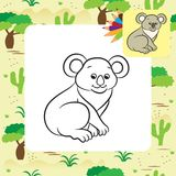 Koala bear vector illustration. Coloring book Royalty Free Stock Images