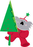 Koala Christmas Royalty Free Stock Images