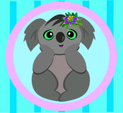 Koala in a Circle Royalty Free Stock Photo