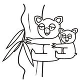 Koala-coloring book Stock Photography