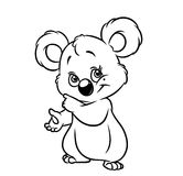 Koala coloring page Royalty Free Stock Image