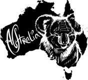 Koala como símbolo australiano Imágenes de archivo libres de regalías