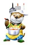 A koala cooking Stock Image