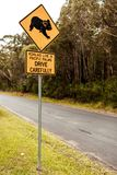 Koala Crossing sign Stock Photos