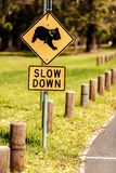 Koala Crossing sign Stock Photo