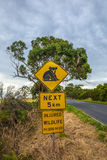 Koala Crossing Warning sign Stock Photos