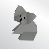 Koala d'origami Illustration de Vecteur