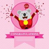 Koala de fête de naissance Image stock