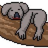 Koala di arte del pixel di vettore royalty illustrazione gratis