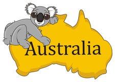 Koala die hoogste op het continent Australië liggen royalty-vrije illustratie