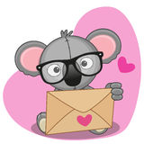 Koala with envelope Royalty Free Stock Image