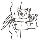 Koala-färgläggning bok Arkivbild