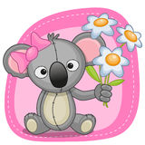 Koala with flowers Stock Photography