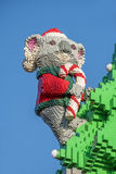 Koala gemacht durch Lego-Ziegelsteine Stockbilder