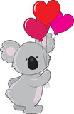 Koala Heart Balloons Stock Images