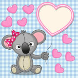 Koala with heart frame Royalty Free Stock Images
