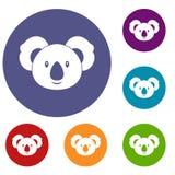 Koala icons set Royalty Free Stock Image