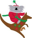 Koala & Kangaroo Christmas Royalty Free Stock Image