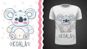 Koala linda - idea para la camiseta de la impresi?n libre illustration