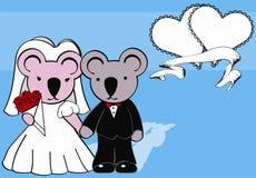 Koala married cartoon background Stock Image