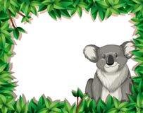 Koala in nature background. Illustration vector illustration