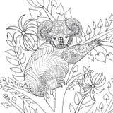 Koala op boom kleurende pagina Stock Fotografie