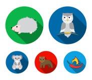 Koala,owl, bear,hedgehog.Animal set collection icons in flat style vector symbol stock illustration web. Koala, owl, bear,hedgehog.Animal set collection icons stock illustration
