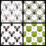 Koala Panda Snake Seamless de chèvre Images stock