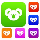 Koala set color collection Royalty Free Stock Images