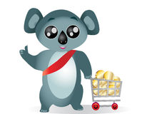 Koala shopping Royalty Free Stock Photo