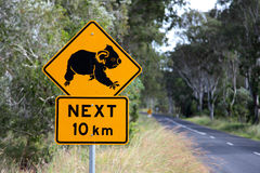 Koala sign Stock Photography