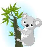 Koala sveglio su un albero illustrazione di stock