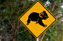 Koala warning sign Stock Images
